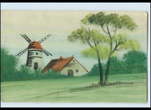 Y3772/ Handgemalt Mühle 1916 AK