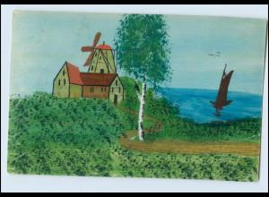 Y3786/ Handgemalt Mühle 1915 AK