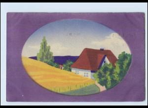 Y3836/ Handgemalt Haus 1918 AK