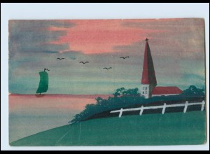 Y3794/ Handgemalt Kirche 1926 AK
