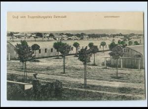 Y3140/ Truppenübungsplatz Darmstadt Wellblechhausen AK 1915
