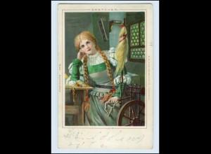 T184/ Märchen Gretchen Litho AK 1901