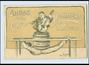 Y5238/ Gruß vom Gau-Kommers Hamburg 1909