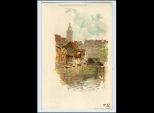 T403-990./ Erfurt Alt-Erfurt Litho AK 1899