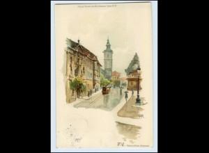 T402-990./ Erfurt Regierungs-Gebäude Litho AK 1899