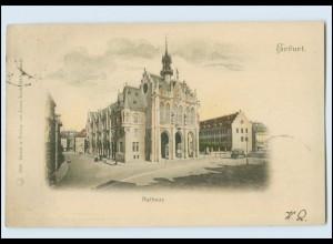 T397-990./ Erfurt Rathaus Straßenbahn AK 1899
