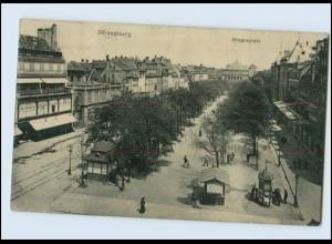 Y3566/ Straßburg Broglieplatz 1917 AK