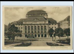 T595/ Dresden Schauspielhaus Straßenbahn AK ca.1912