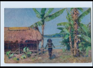 Y3271/ Kolonialkriegerdank Kolonien AK Papua in Neuguinea ca.1915