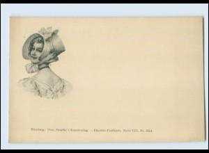T537/ Frau mit Hut Verlag Theo Stroefer AK ca.1900