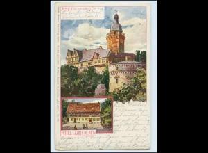 Y3320/ Burg Falkenstein Hotel Zum Falken 1908 AK