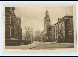 Y3412/ Darmstadt Hochschulstraße mit Techn.Hochschule 1927 AK