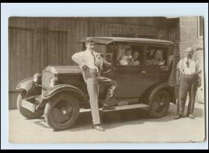 T766/ Auto Opel schöne Foto AK ca.1935