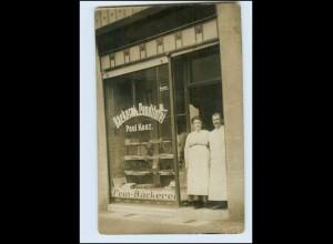 Y3888/ Bäckerei Konditorei Paul Kaaz Ort? Privat Foto AK ca.1912