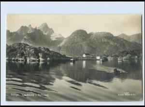 Y3307/ Lauksund I Raftsund Norge Norwegen Foto AK ca.1925