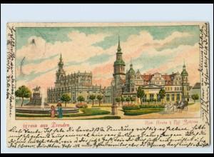 Y3462/ Dresden Gruß aus Dresden 1902 Litho AK