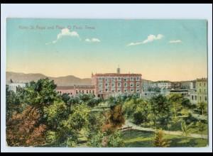 Y3311/ El Paso Texas Hotel St. Regis und Plaza USA AK ca. 1910