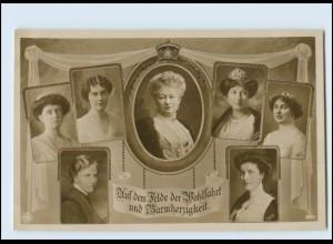 Y3305/ Kaiser Auguste Victoria und Prinzessinen Foto AK ca.1914