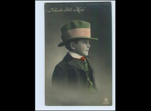 Y3615/ Neueste Hut-Mode Junge mit Hut schöne Foto AK 1911