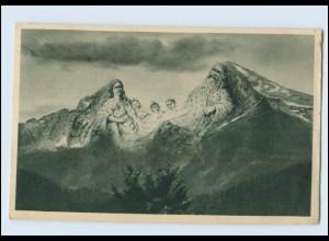 Y3862/ Berge mit Gesichter AK Watzmann-Sage AK 1927