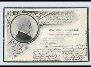 Y3852/ Trauer AK Fürst Otto von Bismarck 1898
