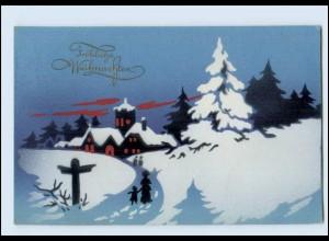 Y3751/ Weihnachten Dorf im Schnee 1926 AK