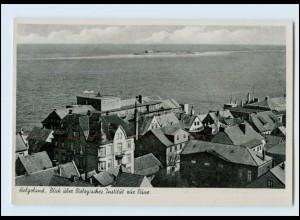 Y3758/ Helgoland Blick über Biologisches Institut zur Düne ca.1940 AK