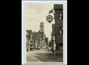 Y4063/ Dinkelsbühl Segringer Straße mit Drei-Mohrenschild 1930 Foto AK