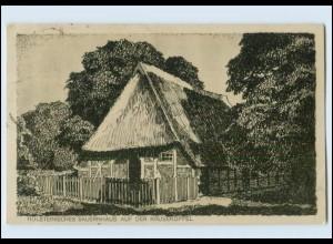 T1270/ Holsteinisches Bauernhaus auf der Krusekoppel AK 1923