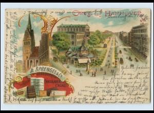Y3981/ Gruß aus Hannover B. Sprengels & Co. Schokolade Litho AK 1901