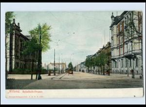 Y4074/ Hamburg Altona Bahnhofs-Straße Straßenbahn 1905 AK