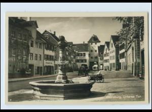 Y4068/ Meersburg Unteres Tor Kutsche Foto AK