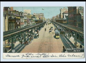 Y4094/ New York Bowery North from Grand St. 1915 AK