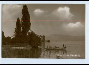 Y4117/ Schweiz Am Zürichsee Emaille-Photo 1911 Foto AK