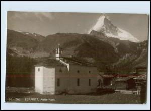 Y3964/ Zermatt Matterhorn Foto AK ca.1910 Schweiz
