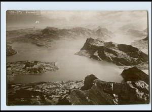 Y3968/ Vierwaldstätter See Emaille Photo Foto AK 1911 Schweiz