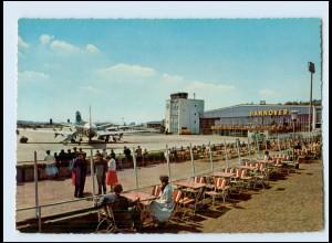 T1276/ Flughafen Flugplatz Hannover Flugzeug ca.1965 AK
