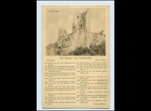 """T1111/ Lieder AK """"Der Sänger von Drachenfels"""" ca.1920 Musik"""