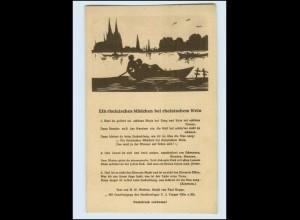 """T1110/ Lieder AK """"Ein rheinisches Mädchen bei rheinischen Wein"""" AK ca.1920"""