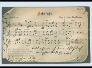 """T1115/ Lieder AK """"Sehnsucht"""" Noten 1905"""