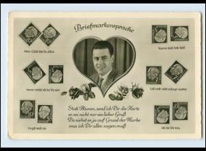 T1040/ Briefmarkensprache Heuss Marken Foto AK ca.1958