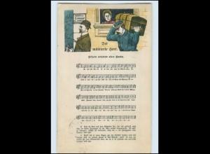 T1401/ Umzug Wohnungswechsel Der Möblierte Herr Lieder AK 1906