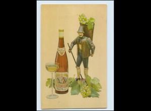 Y4305/ Wein Weinflasche mit Glas 1959 AK