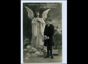 T1321/ Schutzengel Konfirmation schöne Foto AK 1929