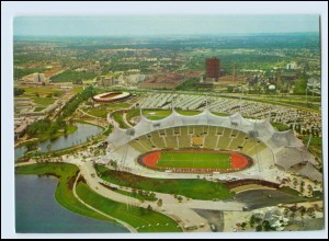 Y4155/ München Sport Olympiapark mit Stadion AK