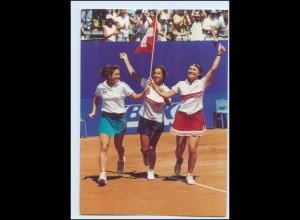 Y4008/ Fed Cup in Sion Schweiz Tennis Martina Hinges + Patty Schnyder AK