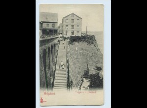 T1621/ Helgoland Treppe n.d. Oberland ca.1900 AK