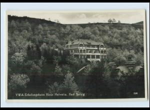 Y4385/ Bad Salzig Boppard VWA-Erholungsheim Foto AK ca.1935
