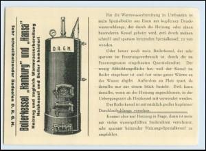 Y4407/ Hamburg G.F.W. Barckmann Boilerfabrik Borgeschstraße 1936