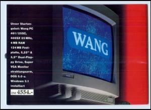 Y4412/ Wang PC System Computer Werbung AK ca.1985